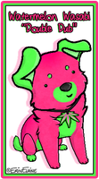 Neon Pup Character Concept by daggerstale