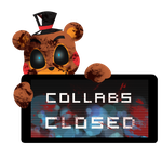 Toy Freddy Collabs Closed Stamp by Ink-cartoon