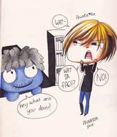 pewdie and creepy doll 1 by OperaHouseGhost