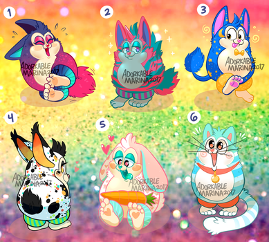 Tattletail Adopt batch #1 [CLOSED!] by AdorkableMarina
