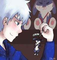 Jack Frost and Bunnymund 2 by saeru-bleuts