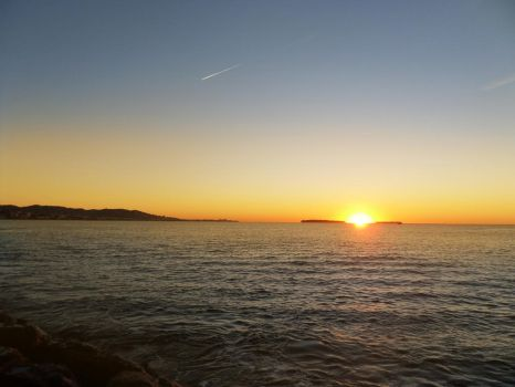 Sun on the sea - Five by Altair-E-Stock