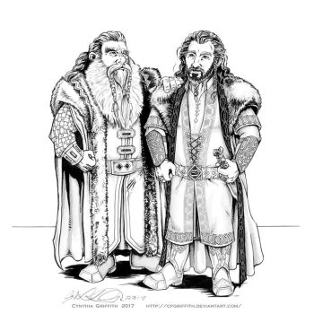 Father and Son Thrain and Thorin by cfgriffith