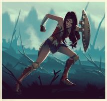 Wonder Woman in No Man's Land Animated by lenadrofranci