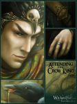 Attending the Crow King-detail by MelissaFindley