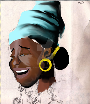 Caribbean Queen WIP by Redfoxbennaton