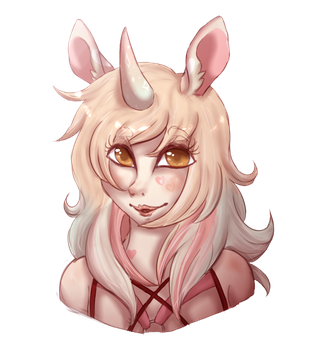 Bust Of A Dainty by Amiookamiwolf