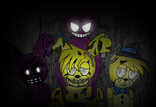 Springtrap's Sorrow (pic) by superpinkygirl101
