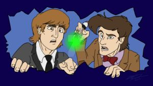 Lennon And The Doctor by TheAbbeyRoadie
