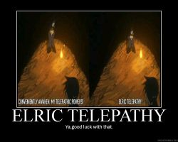 ELRIC TELEPATHY motivator by heart-gold