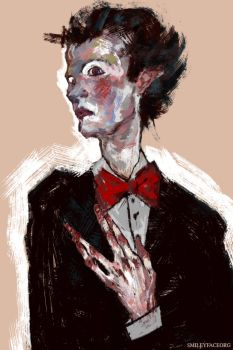 Count Bram portrait with hands by SmileyFaceOrg