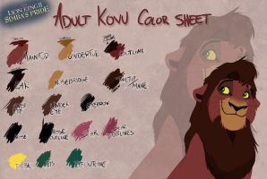 Adult Kovu color sheet by Takadk