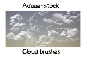 Cloud brushes by Adaae-stock