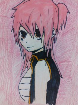 female Natsu (fairy tail) by troublemeetsawesome