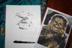 Chewbacca WIP1 by Bluelisamh