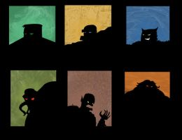 Shadows on the wall-Monsters by She-Beast