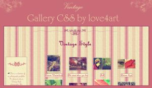Vintage Gallery CSS by Whimsical-Dreams