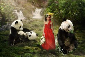Shannah Kayleigh And The Pandas by xyldrae