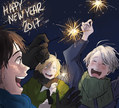 happy new year! by a-zebra-was-here