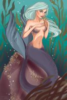 Silvery Mermaid by shwamantha