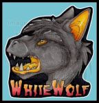 WhiteWolf Head Shot Badge 2014 by AirRaiser