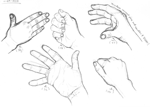 Hands 35 - 39 by monique-conway