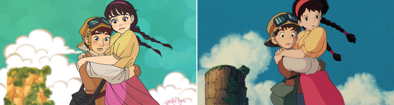 Laputa Castle In The Sky Redraw by Jackie-lyn