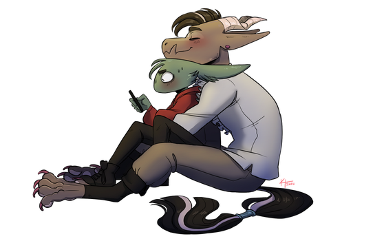 Chill Cuddles by StaticMegaByte