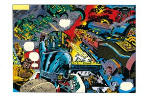 Captain Victory by JACK KIRBY coloured 2 by rikvanniedek