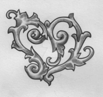 Scrolly Heart by TattooSavage