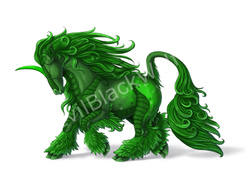 Green Horse by EvilBlackWolf