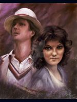 The Doctor and Nyssa by JanjyGiggins