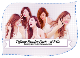 [Render Pack] Tiffany SNSD in white - 5 PNGs by jemmy2000