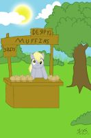 Derpy's Muffin Stand by KairuOkami