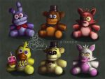 FNAF Plushies by Tuikkis