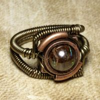 Steampunk ring Opal 1 by CatherinetteRings