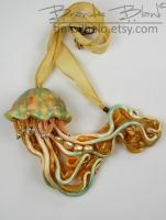 Jellyfish Necklace in Yellow and Pastels by TinfoilHalo