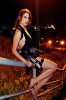 Tomb Raider Lara Croft ripped dress - sitting by TanyaCroft