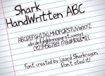 Font - Shark HandWritten ABC by TheSharkMaster