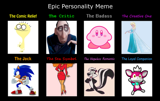 My version of the Personality Meme by TotallyDeviantLisa