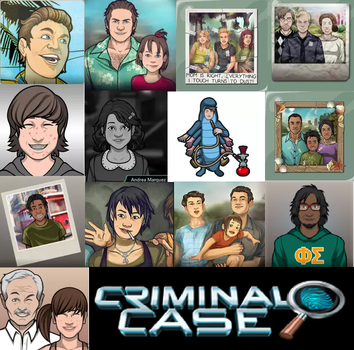 Younger version of Criminal Case Characters by Paula712