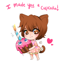 FNAF Valentine ! I made you a cupcake! by HoneyDoodles