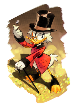 The Richest Duck in the World by Drawloverlala