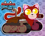 Supersonic Tank Cats: Mittens Portrait by molegato