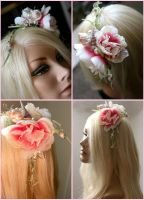 Sequin Peony Headband Detail by TheRealLittleMermaid
