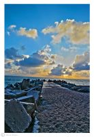 Danish breakwater by Moonbird9