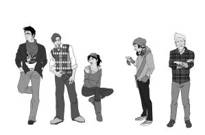 Hipster DC heroes by waitedesigns