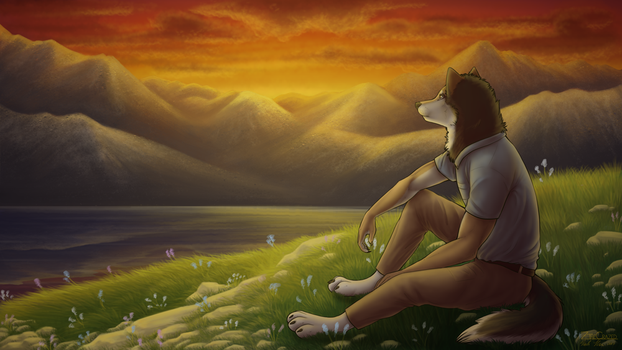 [C] Sunset Over the Mountains by ZTheCrazed