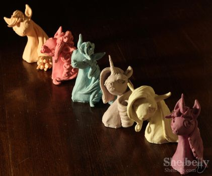 Mane Six Bust set by shelbelly
