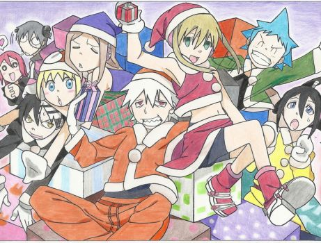 Soul Eater Christmas by arttoinfinity
